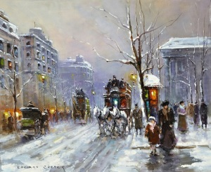 Gavels 'n' Paddles - Edouard Cortes work, $24,400, Crescent City