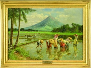 Gavels 'n' Paddles - Fernando Amorsolo oil, $100,725, James D. Julia
