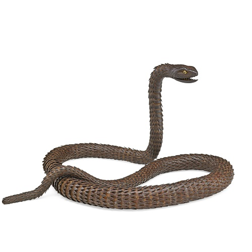Gavels 'n' Paddles - Myochin School iron snake, $37,500, Rago Arts & Auction