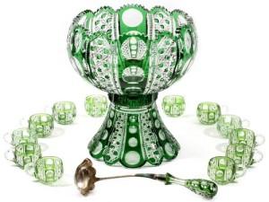 Gavels 'n' Paddles: Dorflinger punch set, $132,000, DuMouchelles