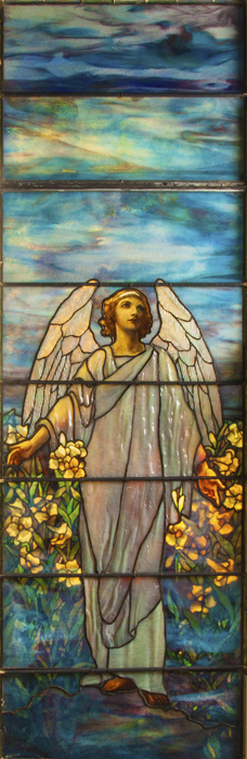 Gavels 'n' Paddles: Tiffany Studios window, $71,300, Cottone Auctions