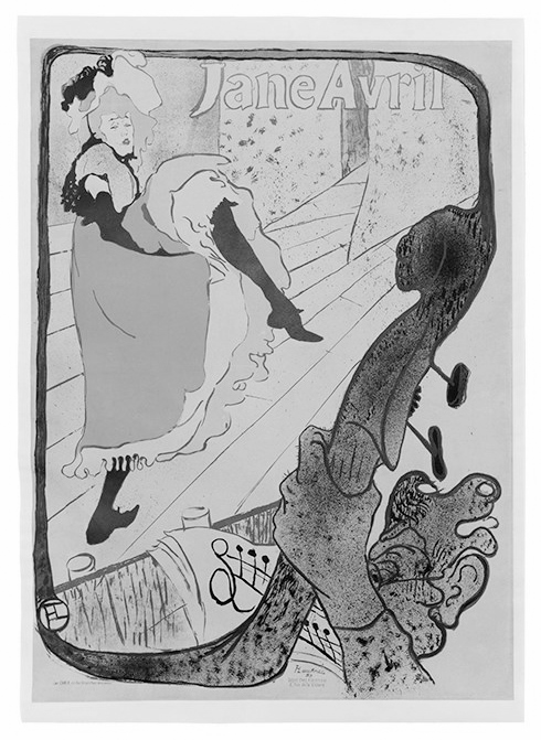 An 1893 lithograph by Henri de Toulouse-Lautrec titled Jane Avril sold for $60,000