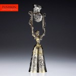 $2,948 (24 bids): 20th C. German Neresheimer Solid Silver gilt Wager Cup, London, c. 1905