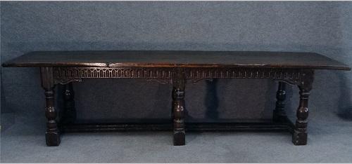Gavels 'N Paddles: Cromwellian table, $5,462, Carlsen Gallery