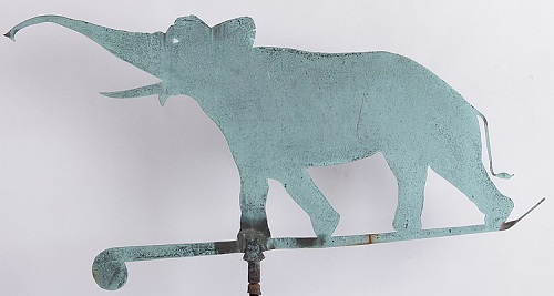 Gavels 'N Paddles: Elephant weathervane, $17,000, Locati Auctions