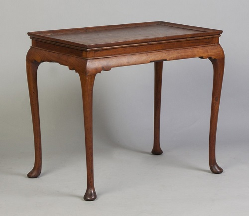 Gavels 'N Paddles: Queen Anne tray-top table, $299,000, Cottone Auctions