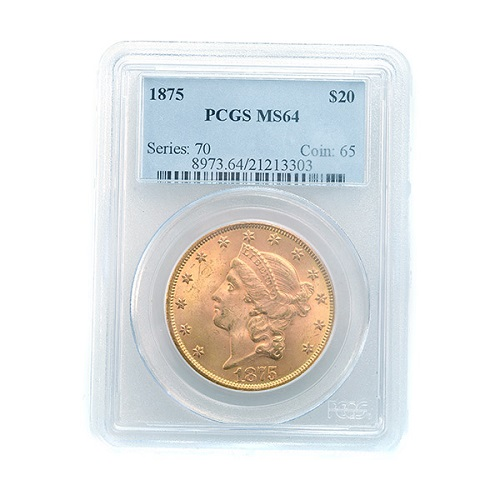 Gavels 'N Paddles: 1875 $20 gold coin, $38,940, Michaan's