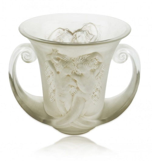Gavels 'N Paddles: Lalique glass vase,$148,750, A. B. Levy's