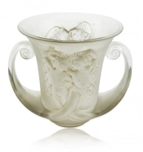 Gavels N Paddles Lalique Glass Vase148750 A B Levys