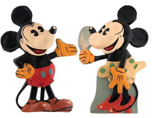 Gavels 'N Paddles: Mickey and Minnie display, $29,222, Hake's Americana