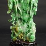 Gavels n Paddles: Chinese jadeite cabbage vase, $59,520, Elite Decorative Arts