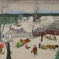 Gavels n Paddles: Grandma Moses painting, $78,000, Nadeau's Auction
