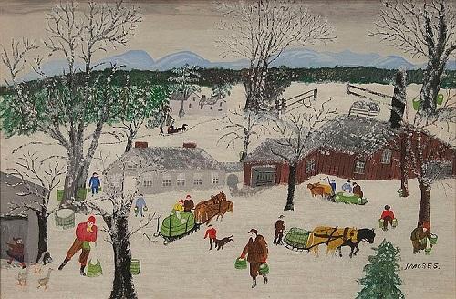 Gavels n Paddles: Grandma Moses painting, $78,000, Nadeau's Auction
