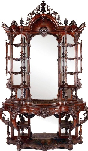 Gavels n Paddles: Thomas Brooks etagere, $63,250, Stevens Auction