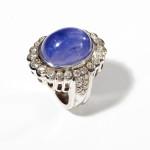 2.31 ctw Diamond & Star Sapphire Ring ($4,000-7,000) (2)