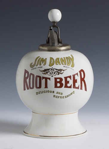 Gavels 'N Paddles: Antique root beer dispenser, $35,650, Cottone Auctions