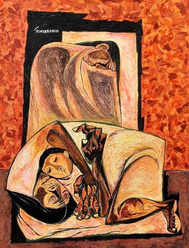 Gavels 'N Paddles: Oswaldo Guayasamin painting, $39,040, Palm Beach Modern