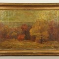 A fall landscape painting by T. C. Steele sold for $16,800 at a sale of the collection of former Secretary of State Alexander Haig