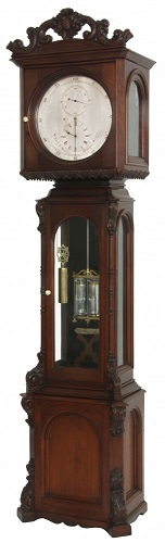 A Howard & Davis astronomical regulator clock sold for $151,250 at a Cataloged Auction