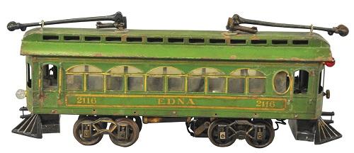 "Gavels 'N Paddles: Voltamp ""Edna"" tram, $21,240, Bertoia Auctions"