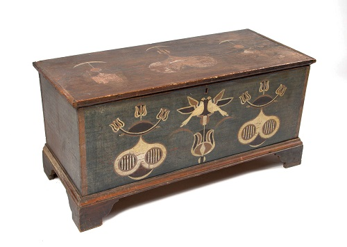 Gavels n' Paddles: 1800 Spitler blanket chest, $356,500, Jeffrey S. Evans