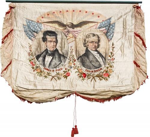 Gavels n' Paddles: 1844 political banner, $185,000, Heritage