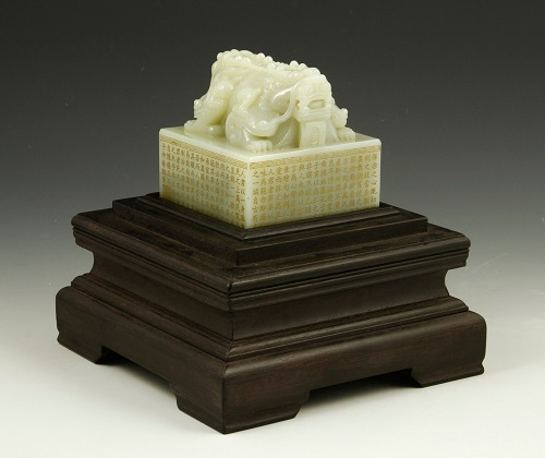 Gavels n' Paddles: Chinese white jade seal, $90,000, Kaminski Auctions