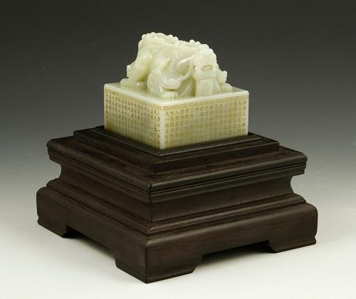 Gavels n' Paddles: Chinese white jade seal, $90,000, Kaminski Auctions