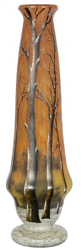 Gavels n' Paddles: Daum Nancy art glass vase, $12,000, Woody Auction