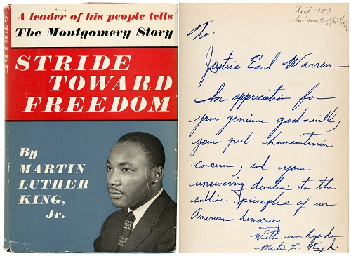 Gavels n' Paddles: MLK, Jr. inscribed book, $49,335, Hake's Americana