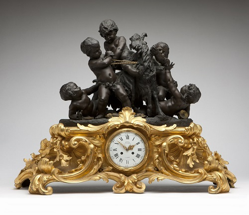 Gavels n Paddles: 1880s mantel clock, $28,125, John Moran