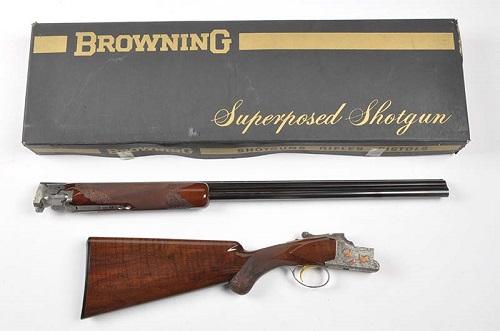 Gavels n Paddles: Belgian Browning shotgun, $27,600, Morphy Auctions