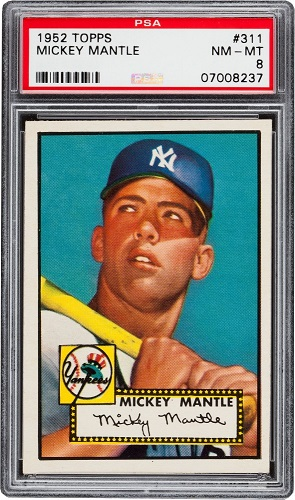 Gavels n Paddles: 1952 Mickey Mantle card, $400,950, Goldin Auctions