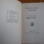 Frost Selected Poems Signature - Druckenbrod
