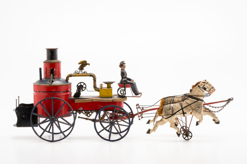 Gavels 'n' Paddles: 19th-century toy fire pumper, $33,000, Cordier Auctions