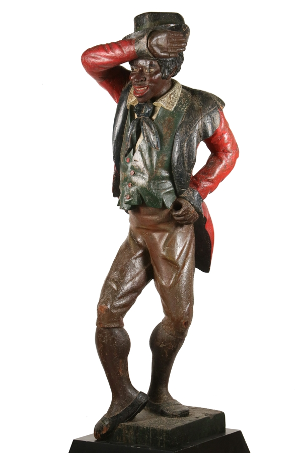 Gavels 'n' Paddles: Carved minstrel figure, $157,950, Thomaston Place