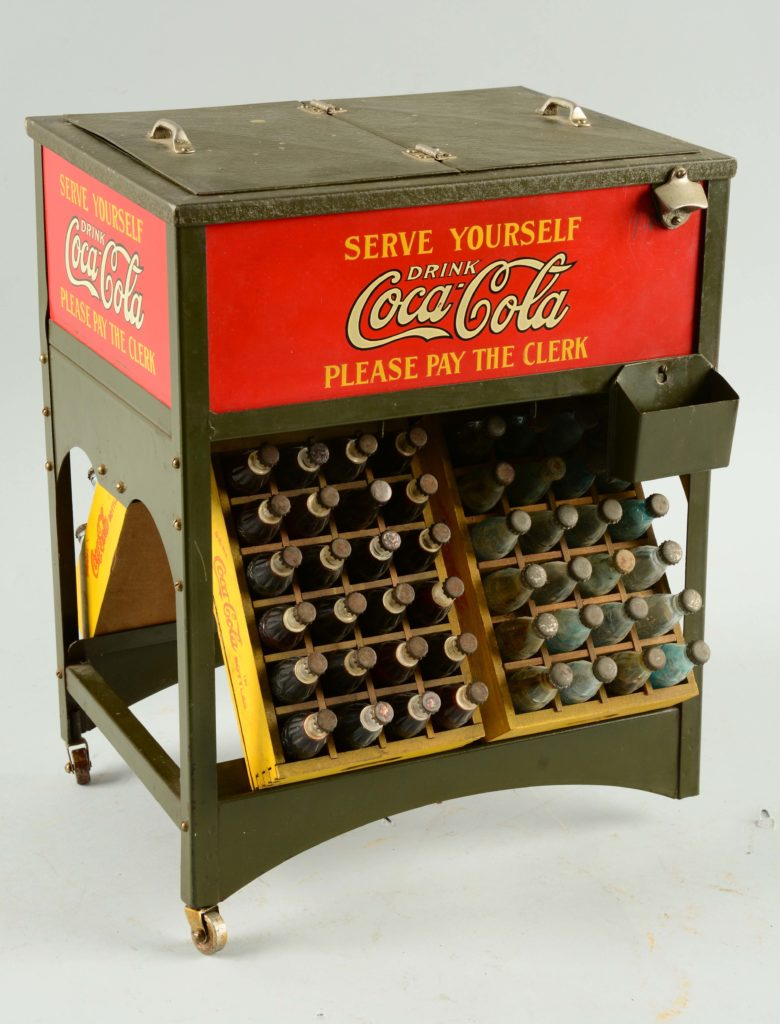 Gavels 'n' Paddles: Coca-Cola sample cooler, $17,835, Morphy Auctions