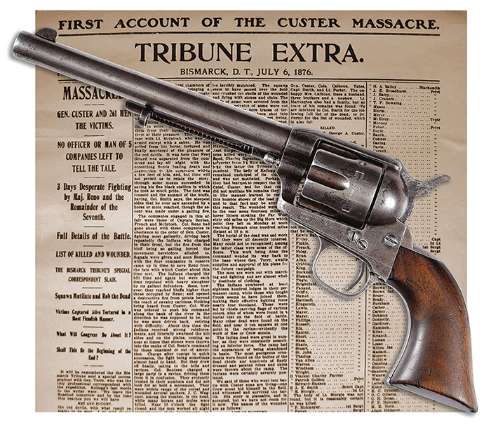 Gavels 'n' Paddles: Little Big Horn Colt pistol, $460,000, James D. Julia, Inc.