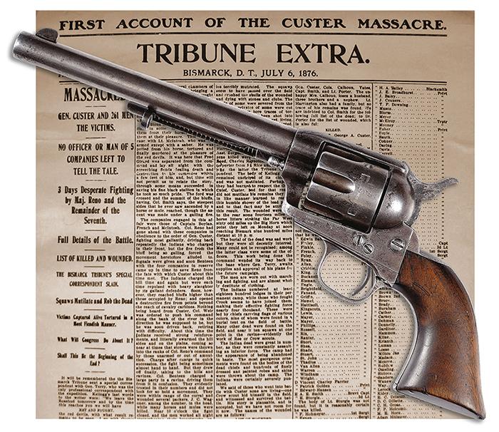 Gavels 'n' Paddles: Little Big Horn Colt pistol, $460,000, James D. Julia, Inc.