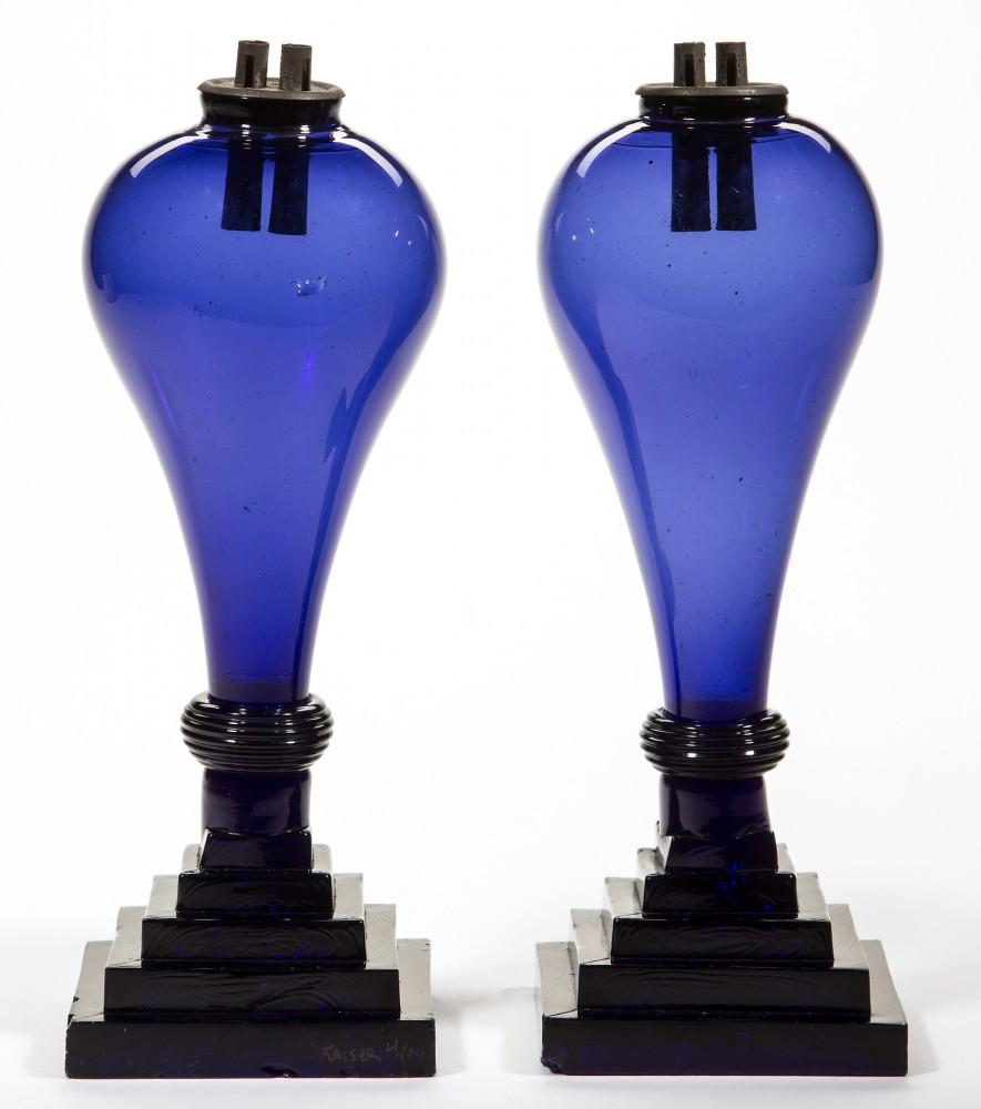 Gavels 'n' Paddles: Pair of whale oil lamps, $26,910, Jeffrey S. Evans
