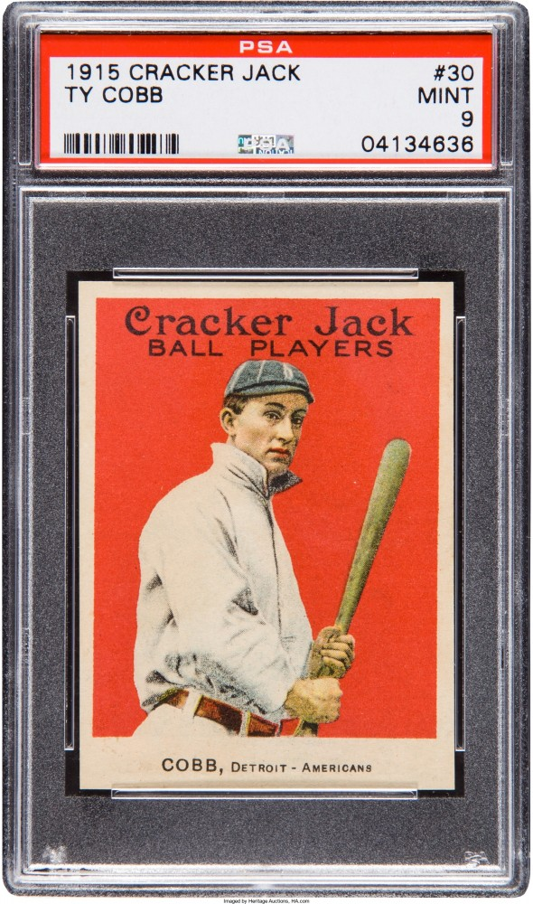 Gavels 'n' Paddles: 1915 Ty Cobb baseball card, $432,000, Heritage Auctions