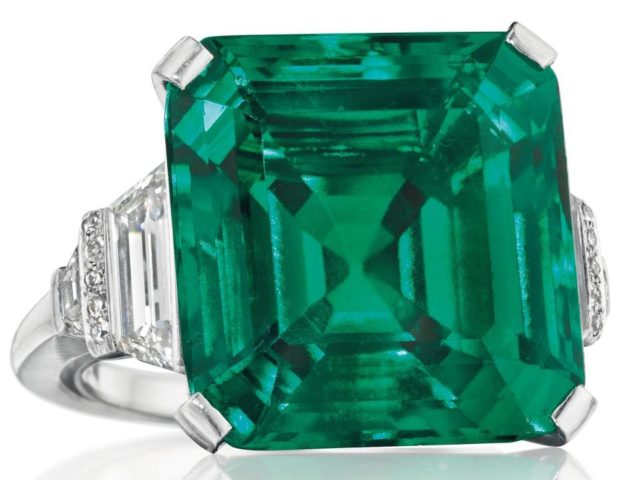 Gavels 'n' Paddles: Emerald and diamond ring, $5.512 million, Christie's