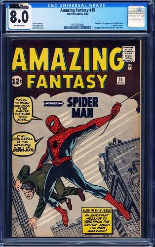 CGC 8.0 Amazing Fantasy # 15 Tops $260,000