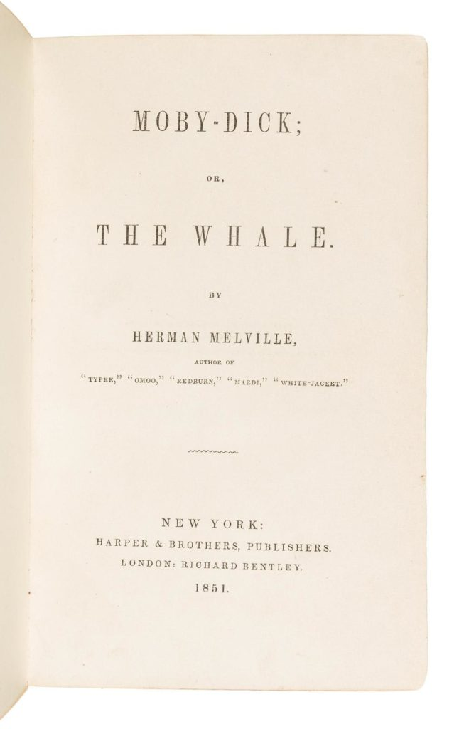 Gavels 'n' Paddles: Copy of Moby Dick, $9,600, PBA Galleries