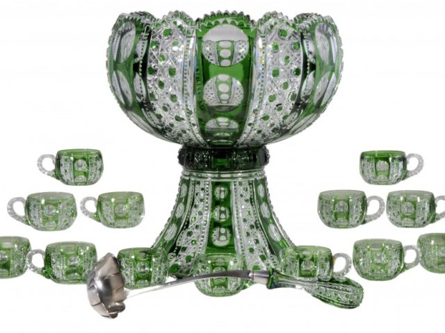 Gavels 'n' Paddles: Dorflinger punch bowl set, $114,000, Brunk Auctions