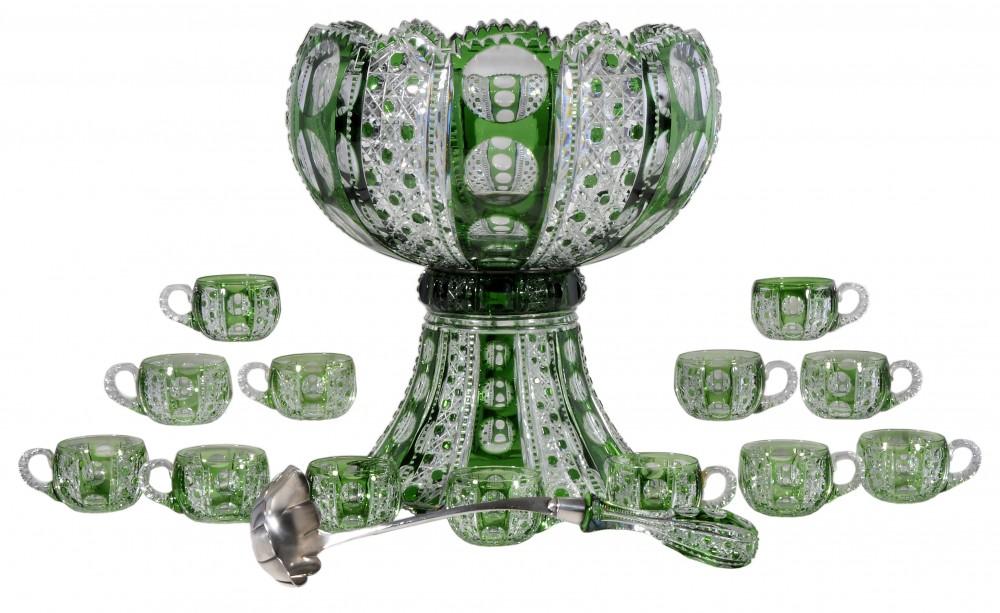Gavels 'n' Paddles: Dorflinger punch bowl set, $114,000, Brunk Auctions