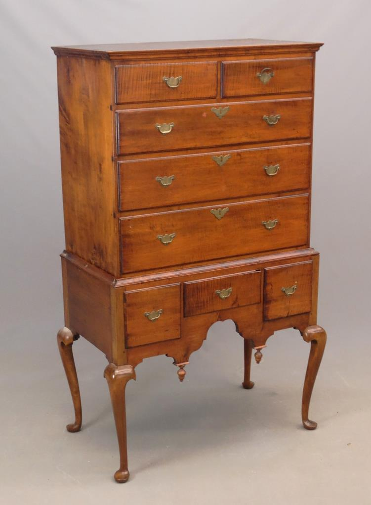 Gavels 'n' Paddles: Queen Anne maple highboy, $10,530, Copake Auction