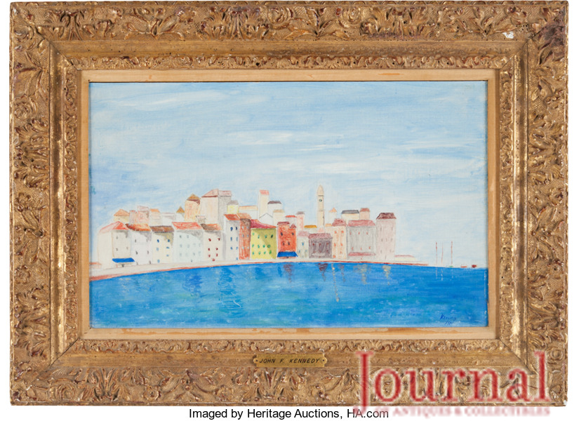 Gavels 'n' Paddles: 1955 painting done by JFK, $162,500, Heritage Auctions
