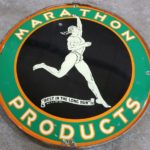 Gavels 'n' Paddles: Marathon Products sign, $6,900, Route 32 Auctions