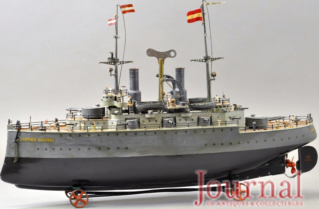 Gavels 'n' Paddles: Marklin toy battleship, $192,000, Bertoia Auctions